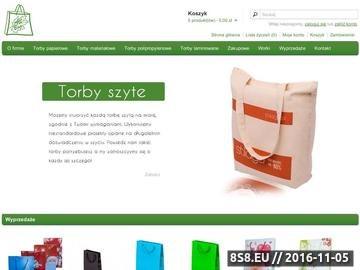 Zrzut strony Torby papierowe i materiałowe oraz odzież firmowa