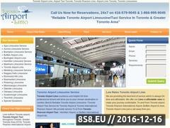 Thumbnail of Toronto Airport Limo Service Website