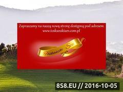 Miniaturka domeny www.toskanskisen.pl