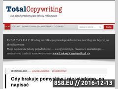 Miniaturka domeny www.totalcopywriting.pl