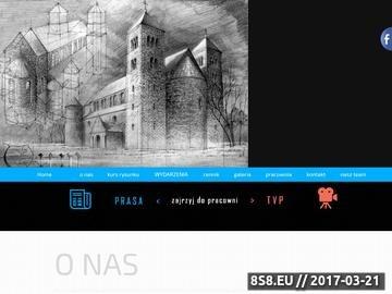 Zrzut strony TOTU Szkoła Rysunku Kraków