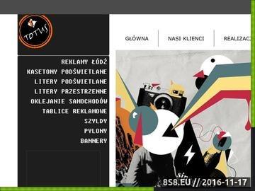 Zrzut strony Litery przestrzenne Łódź - Reklama