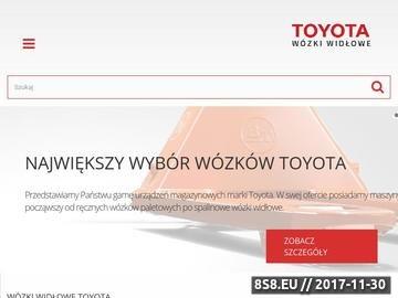 Zrzut strony Toyota - wózki widłowe