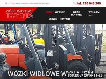 Zrzut strony Wynajem wózków widłowych Wadowice, Kraków