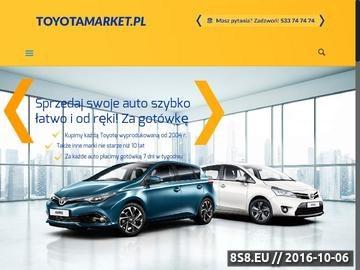 Zrzut strony Toyota Wrocław - serwis
