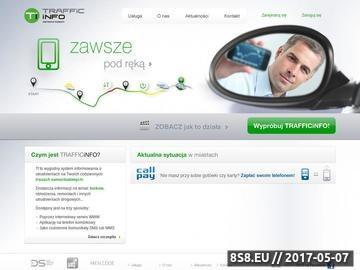 Zrzut strony Trafficinfo.pl - Informacje o utrudnieniach na drogach