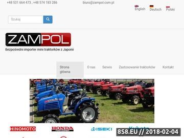 Zrzut strony Bezpośredni importer mini traktorków oraz maszyn rolniczych