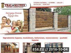 Miniaturka Ogrodzenia z pustaków łupanych, podmurówki i daszki ogrodzeniowe (www.tral-slupex.pl)