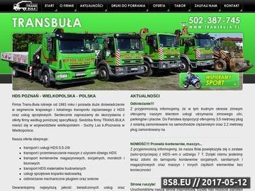 Zrzut strony TRANS-BUŁA przewóz materiałów budowlanych