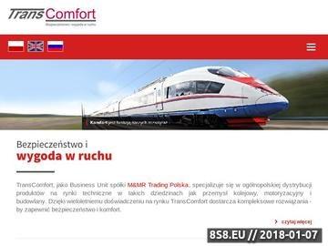 Zrzut strony Transcomfort.pl - produkty techniczne dla przemysłu