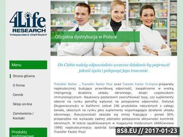 Zrzut strony 4Life Transfer Factor Oficjalny Dystrybutor -