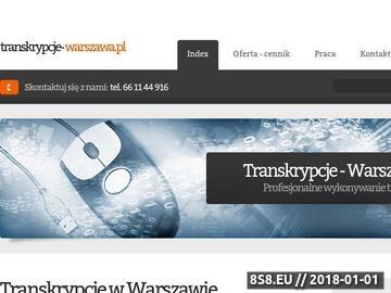 Zrzut strony Transkrypcje, przepisywanie ze słuchu