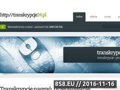 Miniaturka domeny transkrypcje24.pl