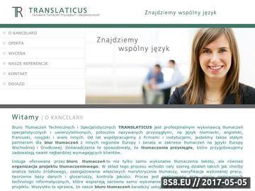 Zrzut strony Biuro tłumaczeń Poznań