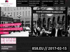 Miniaturka domeny www.translationstreet.pl