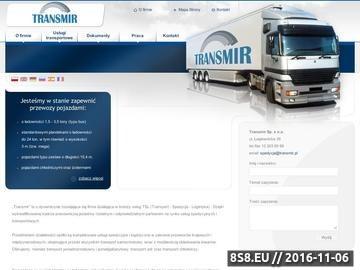 Zrzut strony Firma transportowa Transmir