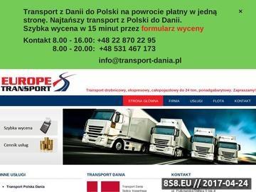 Zrzut strony Transport - Dania