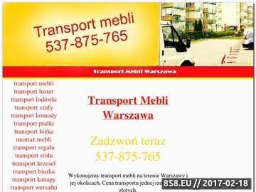 Zrzut strony Transport mebli Warszawa