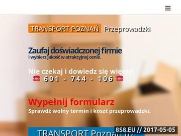 Zrzut strony Transport i Przeprowadzki - Zbyszek Poznań