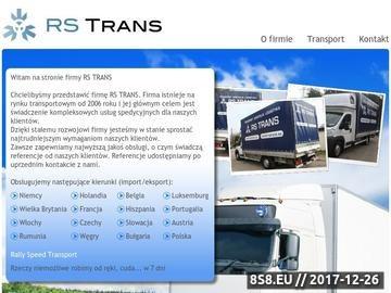 Zrzut strony Transport Niemcy-Polska, RS Trans