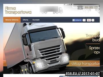 Zrzut strony Firma transportowa - transport drewna Sanok