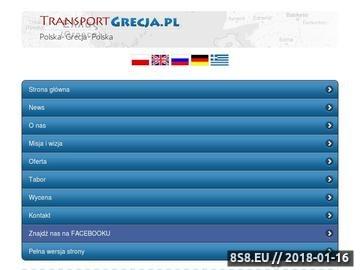 Zrzut strony Spedycja do Grecji