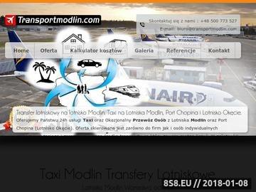 Zrzut strony Tani transport taxi z lotniska Modlin oraz Portu Chopina