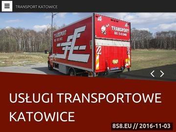 Zrzut strony Usługi transportowe, transport Katowice i taxi bagażowe