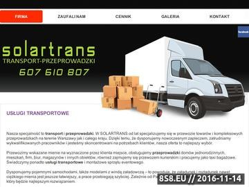 Zrzut strony Usługi transportowo-przeprowadzkowe SOLARTRANS