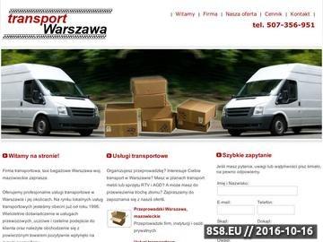 Zrzut strony Usługi transportowe w Warszawie i regionie