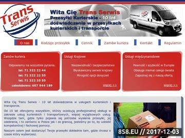 Zrzut strony Przesyłki kurierskie krajowe i międzynarodowe - Trans Serwis