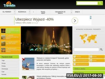 Zrzut strony Travelin.pl - serwis podróżniczy dla każdego