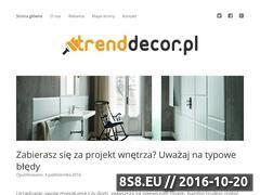 Miniaturka domeny www.trenddecor.pl