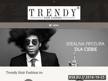 Zrzut strony Salon Fryzjerski & Kosmetologia ''Trendy'' Tychy