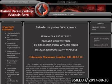 Zrzut strony Tresura psów Warszawa