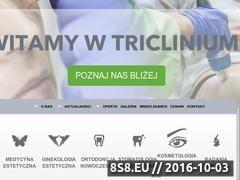 Miniaturka domeny triclinium.pl