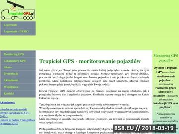 Zrzut strony Monitoring GPS pojazdów, lokalizuj swoje auto, kontrola paliwa