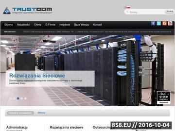 Zrzut strony TRUSTCOM - Administracja serwerami, Outsourcing IT, Sieci komputerowe