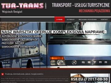 Zrzut strony Tur-trans- przewóz osób za granicą