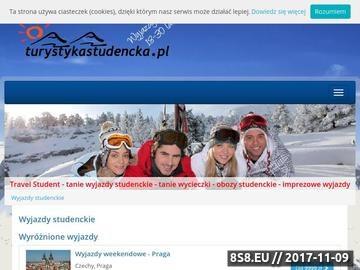 Zrzut strony Tanie wyjazdy studenckie - Travel Student