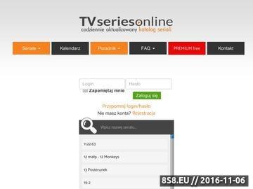 Zrzut strony TVseriesOnline.pl - seriale online
