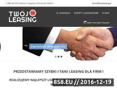 Miniaturka domeny twoj-leasing.pl