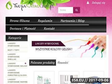 Zrzut strony Hurtownia kosmetyczna - sklep - TwojaNatura.net.pl