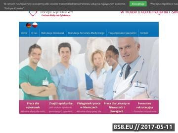 Zrzut strony TwojaOpieka24 Mobilne Centrum Medyczno-Opiekuńcze