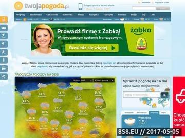 Zrzut strony TwojaPogoda - Aktualna prognoza pogody