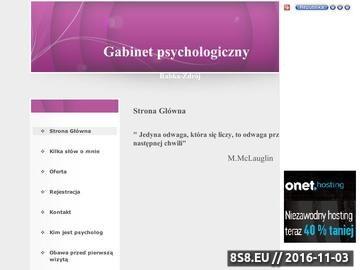 Zrzut strony Gabinet psychologiczny - Rabka-Zdrój, Kraków