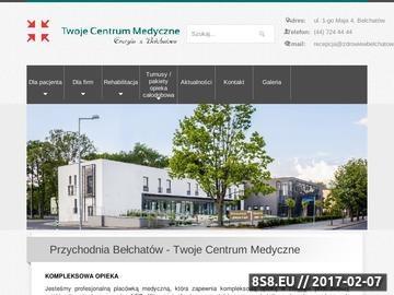 Zrzut strony NZOZ Twoje Centrum Medyczne Bełchatów