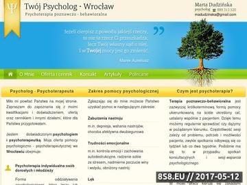 Zrzut strony Psycholog Wrocław
