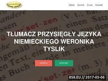 Zrzut strony Tłumaczenia przysięgłe Germanikus