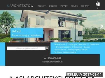 Zrzut strony Gotowe i nowoczesne projekty domów, indywidualny projekt domu